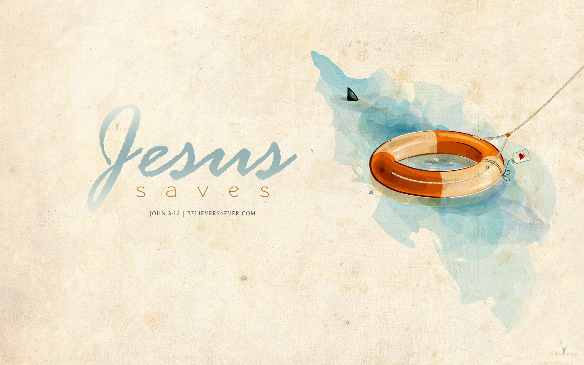 Jesus saves, John 3:16 Christian wallpaper, Lifebuoy Christian desktop wallpaper