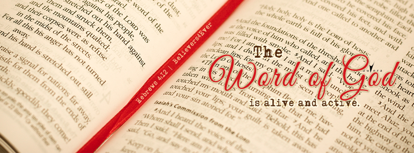 Word of God alive, Free Christian facebook timeline cover photo, bible verse facebook banners, scripture Facebook banners, bible quotes, inspiration quotes christian, Christian graphics, Hebrews 4:12 facebook timeline cover