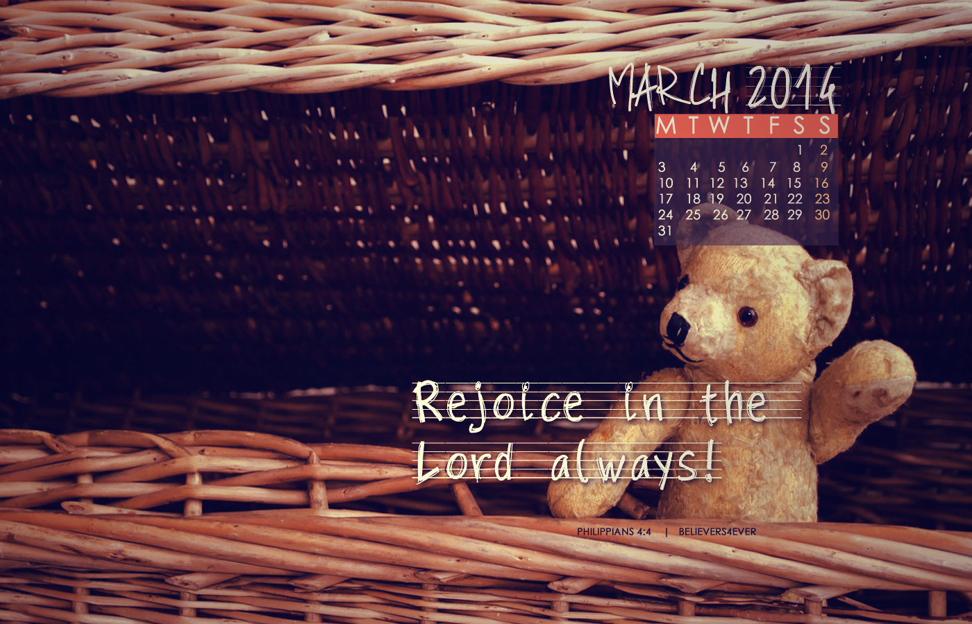 Rejoice in the Lord March wallpaper, Desktop Calender wallpaper, Christian wallpapers, Free wallpapers, gospel wallpapers, wallpapers with scripture, bible verse wallpaper,Christian website,Christian Graphics, christian wallpapers, believers4ever, christian graphics, free Christian desktop wallpaper, bible wallpaper, scripture wallpaper, Free Christian wallpapers
