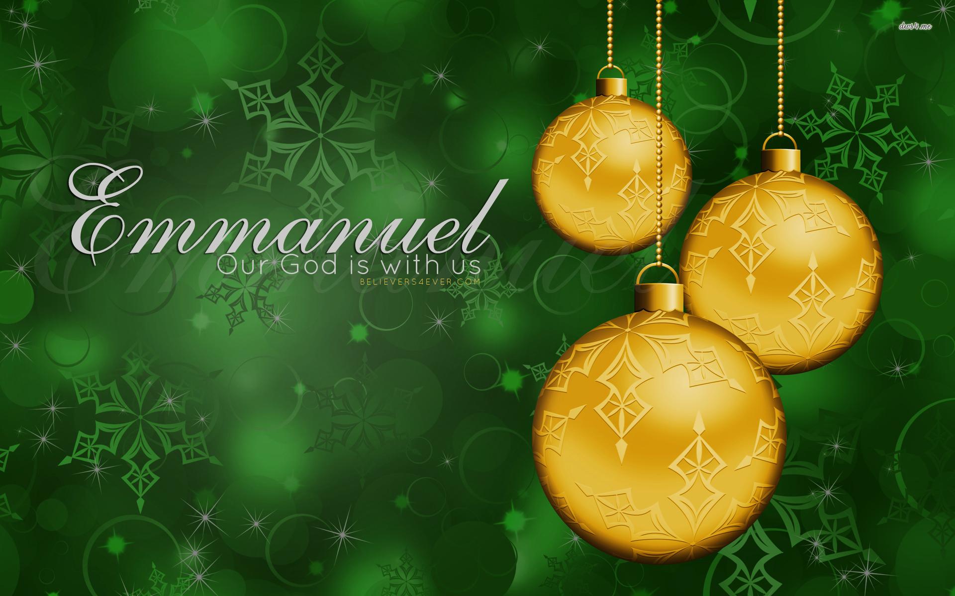 Emmanuel Christian Christmas Desktop wallpaper
