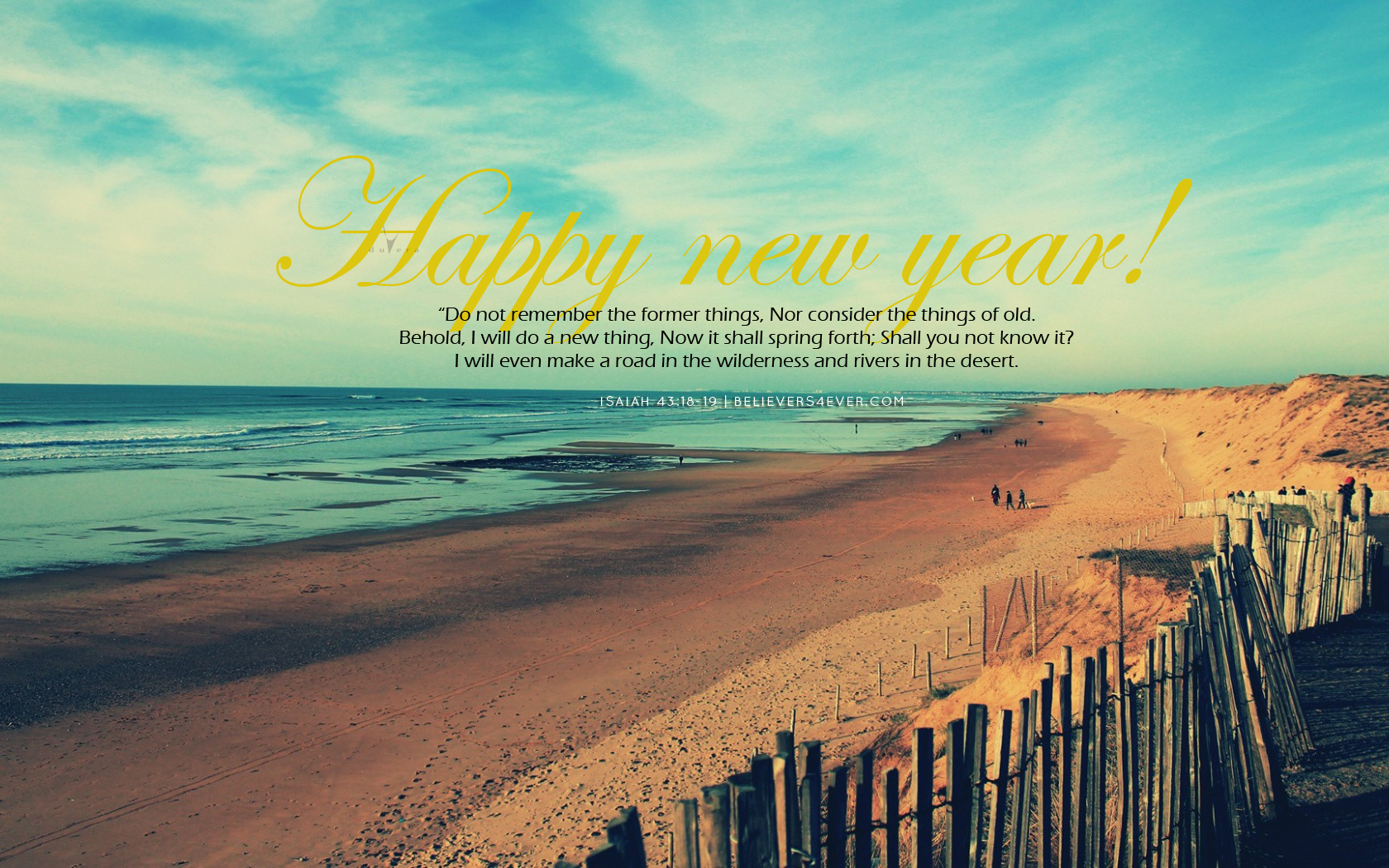 Former things new year 2015 Christian wallpaper