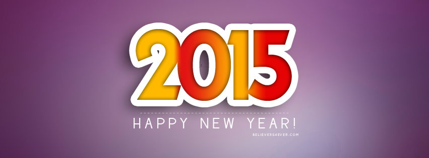 Happy 2015 Facebook timeline cover photo