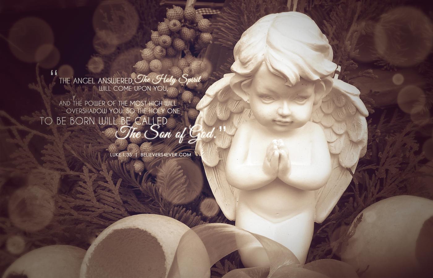 The son of God Christmas desktop wallpaper