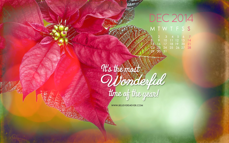 Wonderful time Christian calendar wallpaper