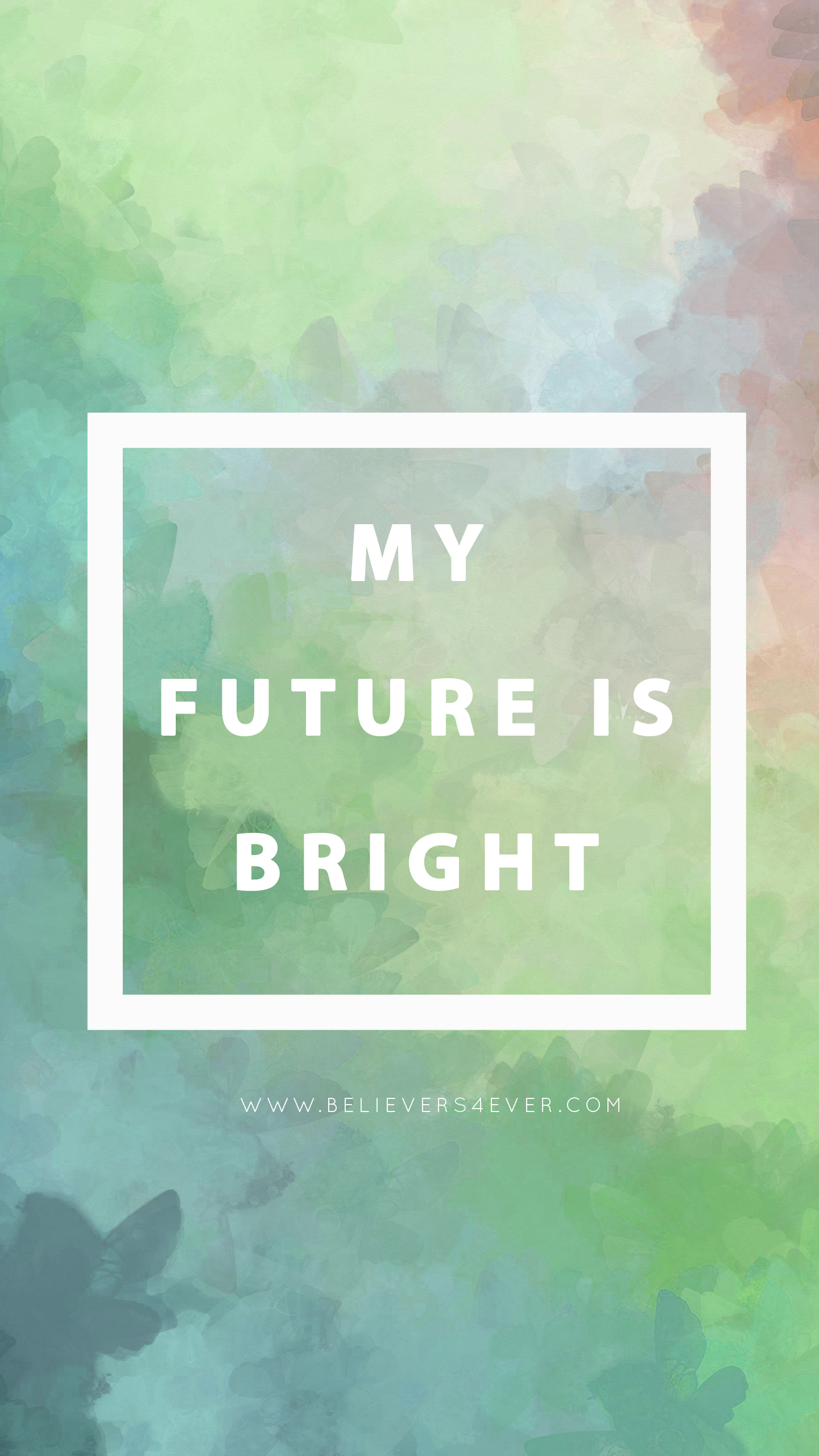 Bright future green Christian mobile lockscreen wallpaper for free