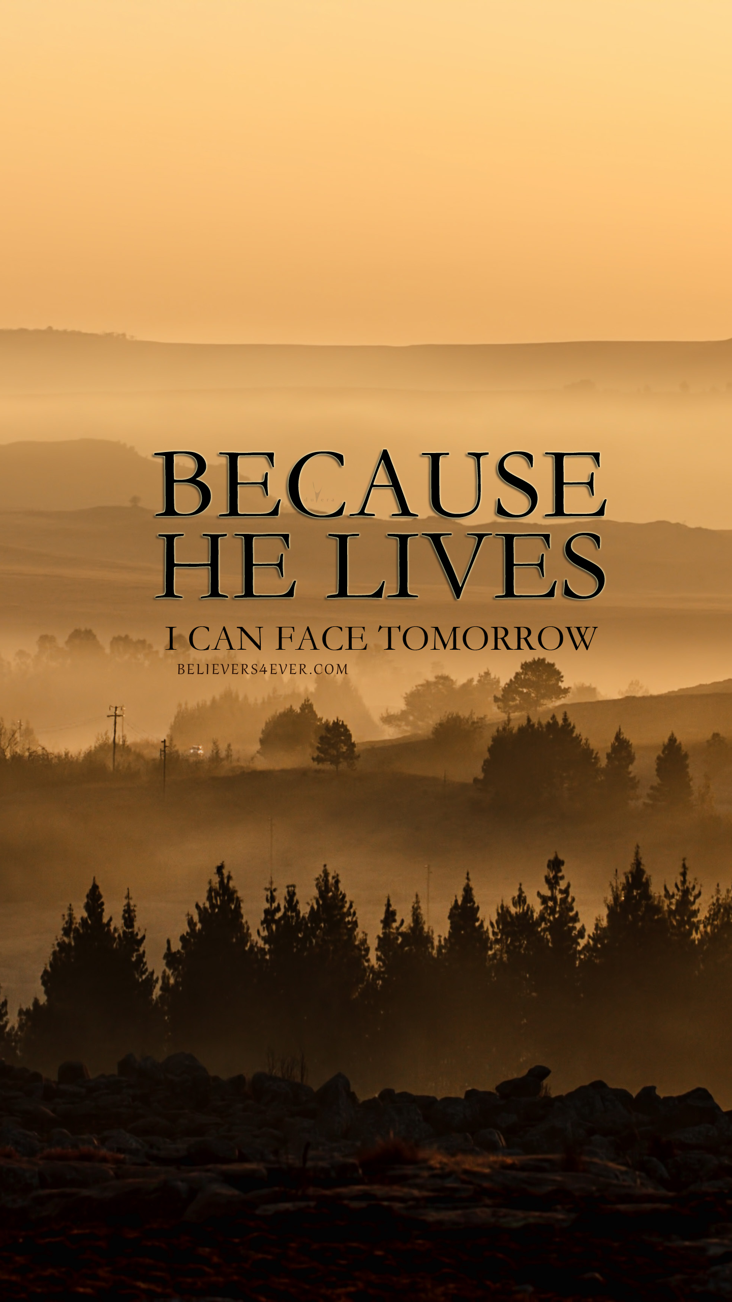 Because He lives, I can face tomorrow, christian mobile wallpaper, Christian mobile lockscreen wallpaper