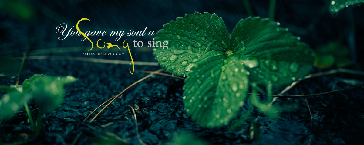 You gave my soul a song to sing Christian background wallpaper