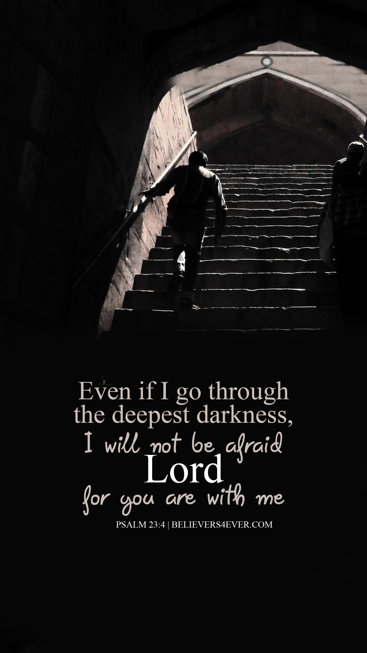 The deepest darkness Psalm 23:4