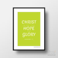 Christ in me art print