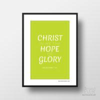Christ in me art print