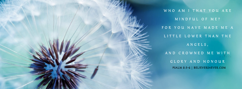 Free Christian facebook timeline cover photo, Psalm 8:5-6, bible verse facebook banners, bible quotes, inspiration quotes christian, Christian graphics, facebook timeline cover