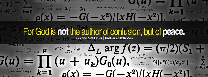 God Is Not The Author Of Confusion