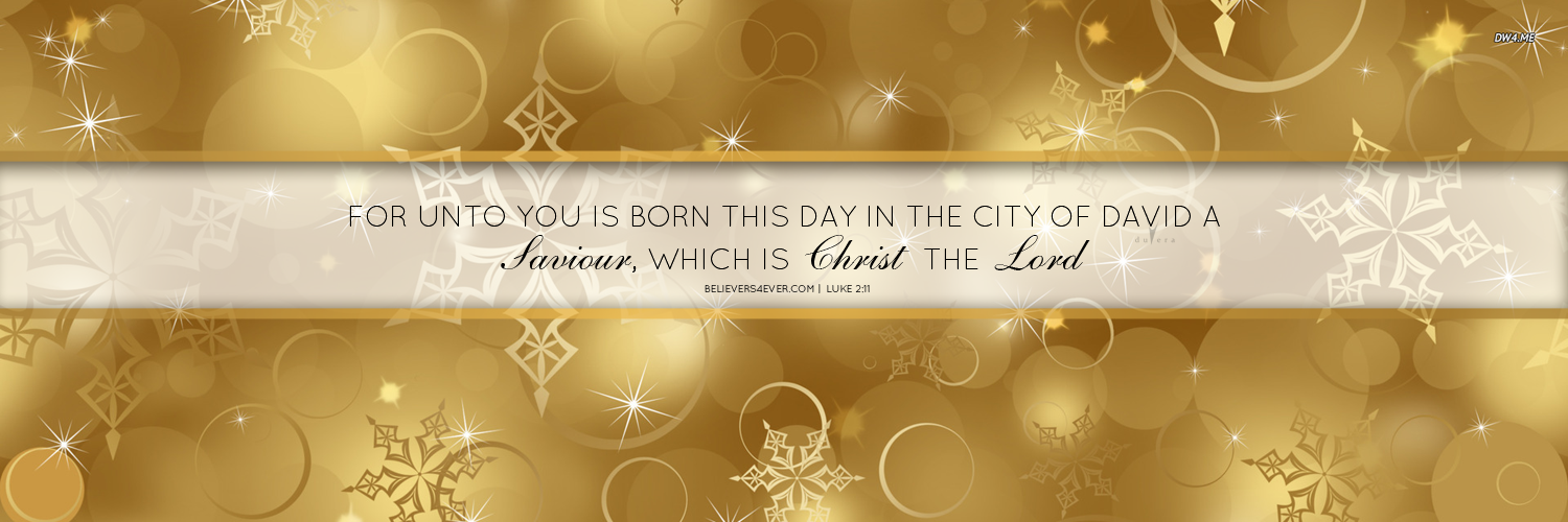 For unto you is born Christmas twitter headers