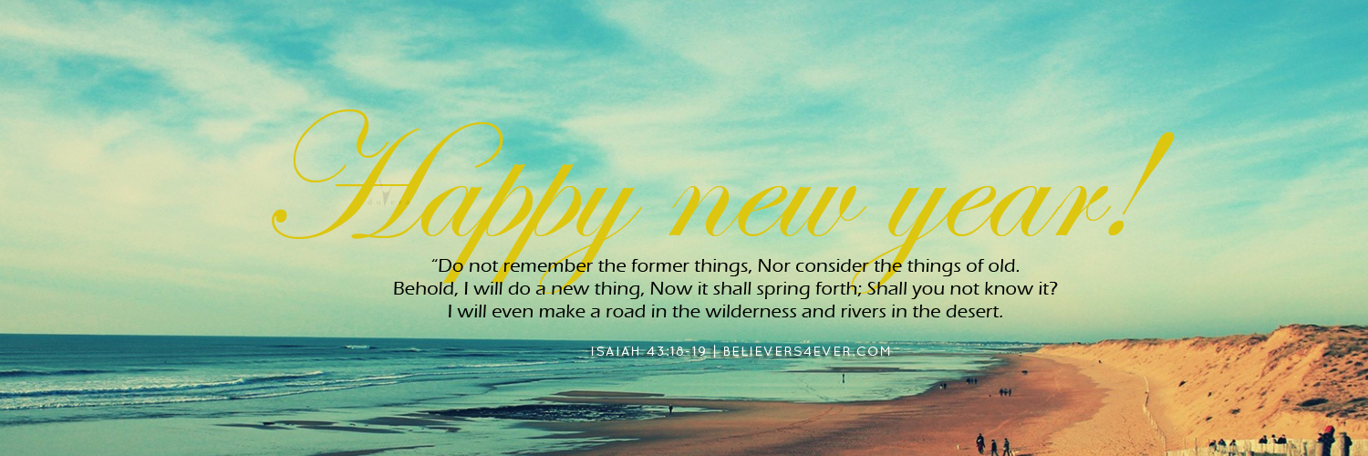 former things new year 2015 christian twitter header photos isaiah 4318 19