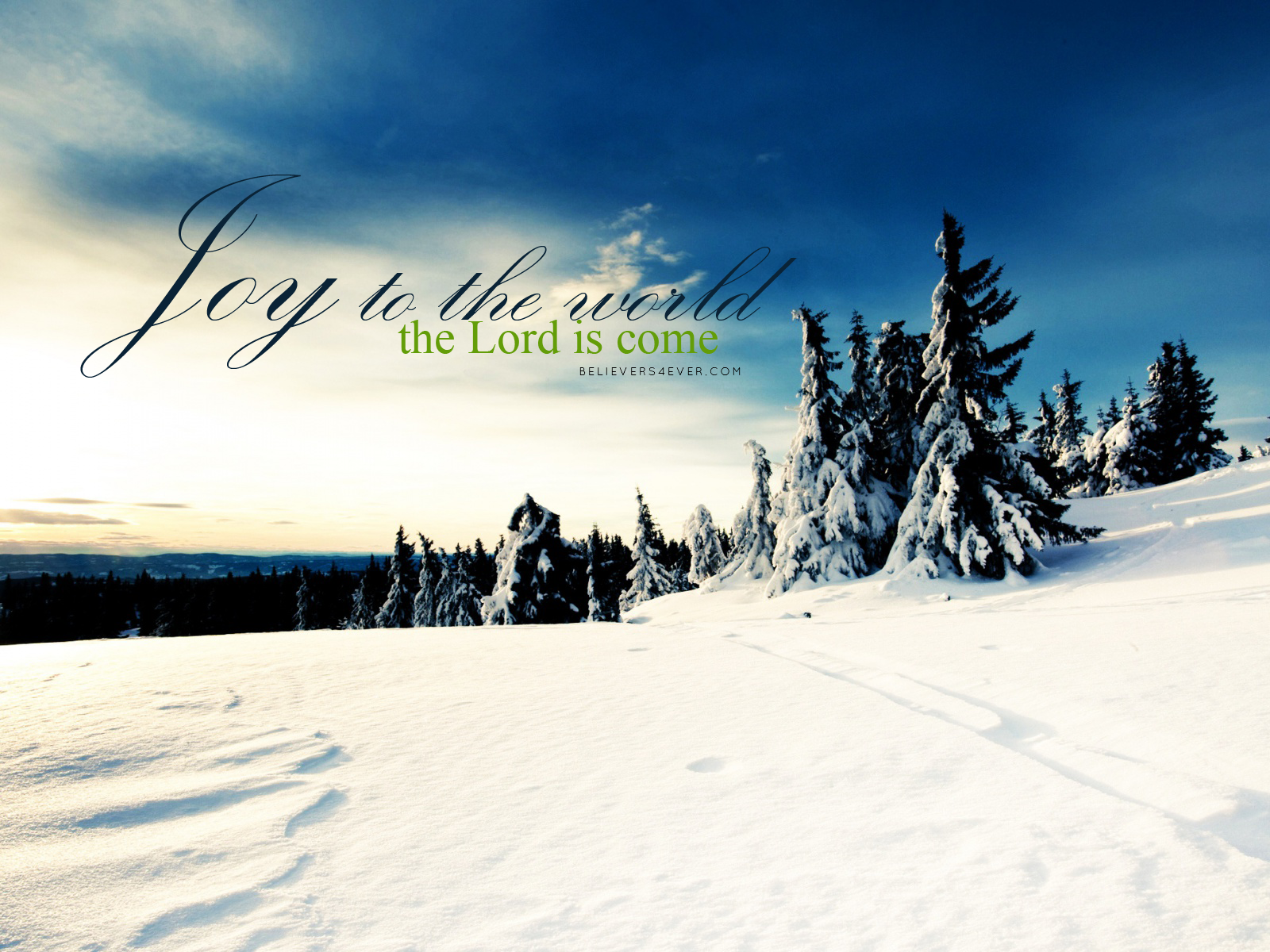 Joy to the world Christian Christmas desktop wallpaper