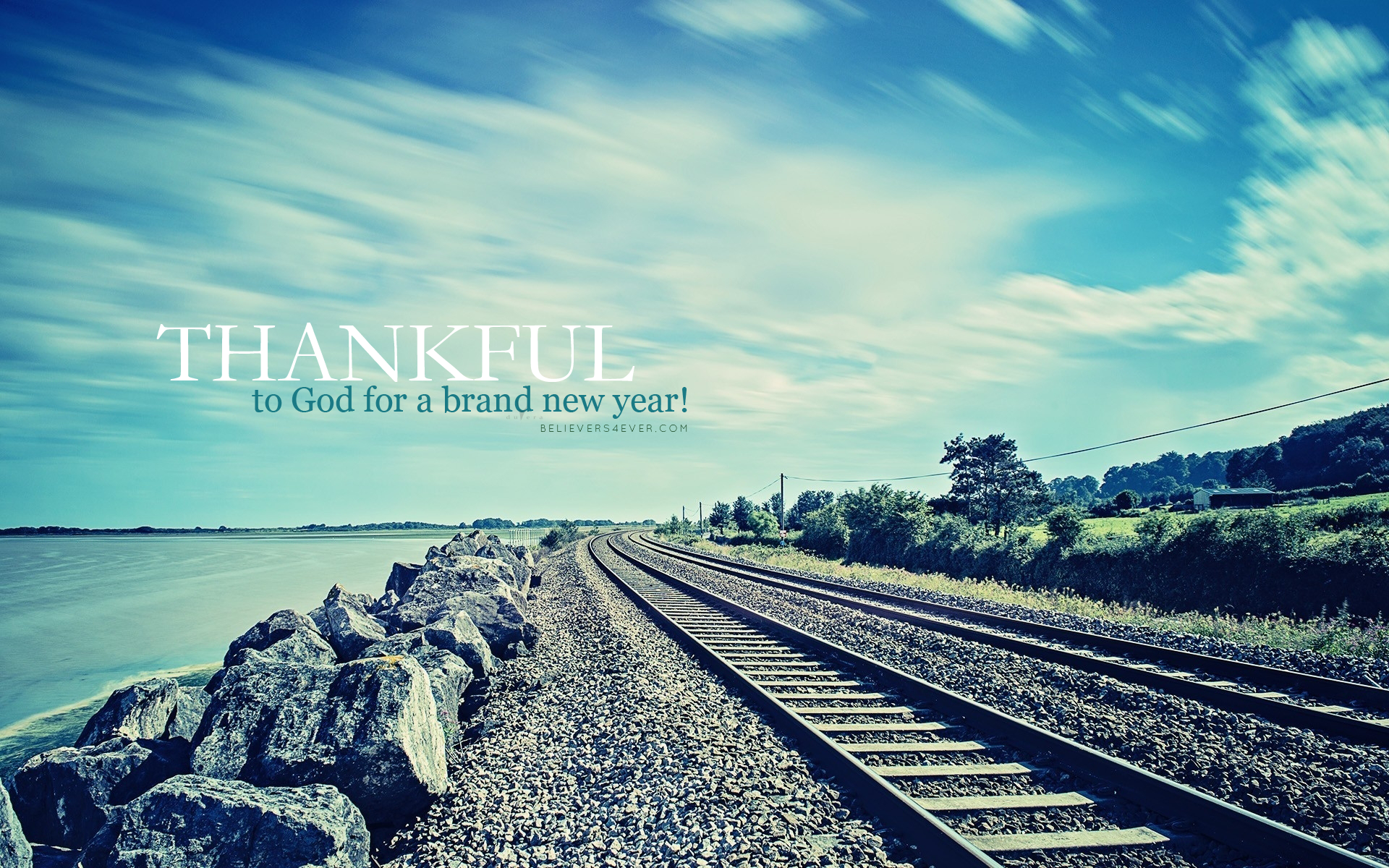Thankful For New Year 2015 Christian Wallpaper Happy