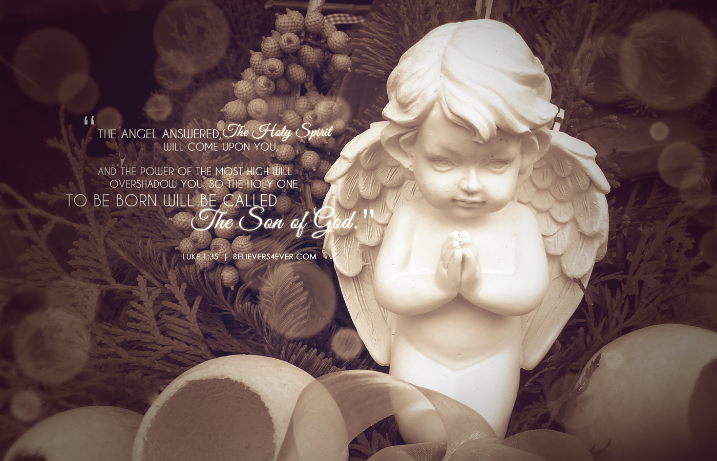 The son of God Christmas desktop wallpaper