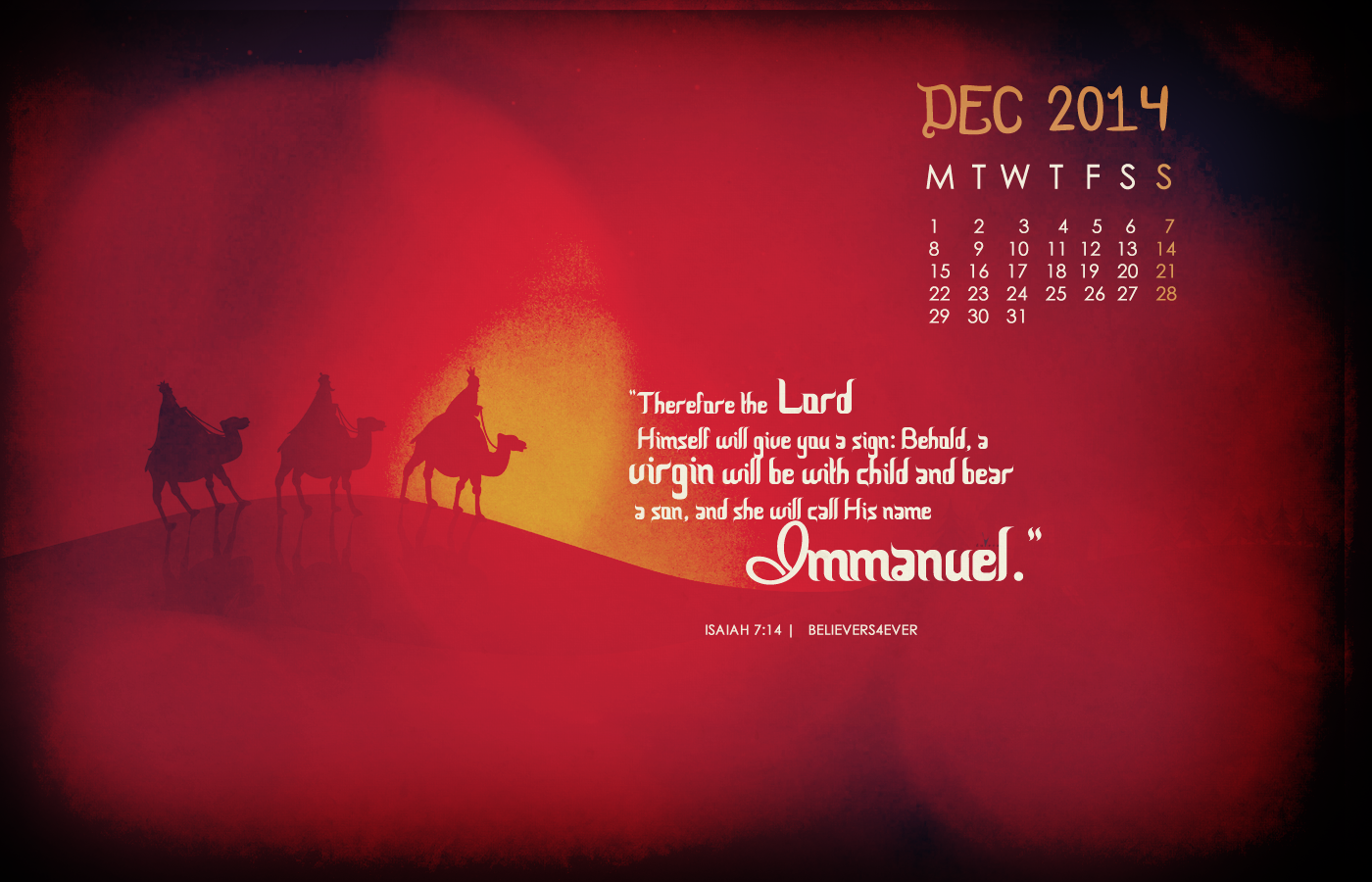 Immanuel Christian Christmas wallpaper