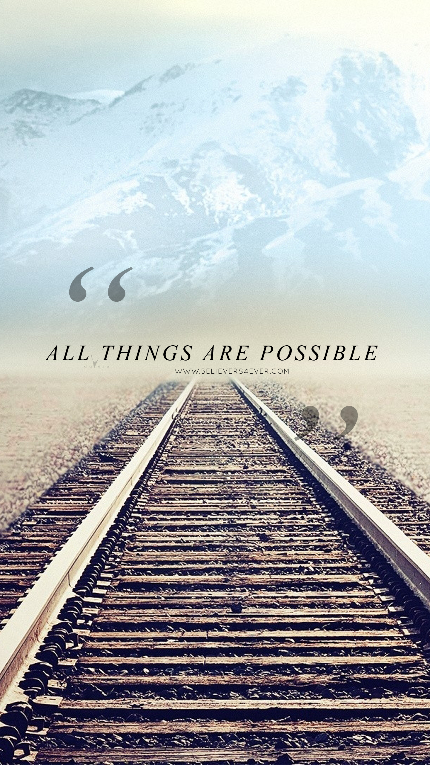 All things are possible Christian mobile lock screen wallpaper