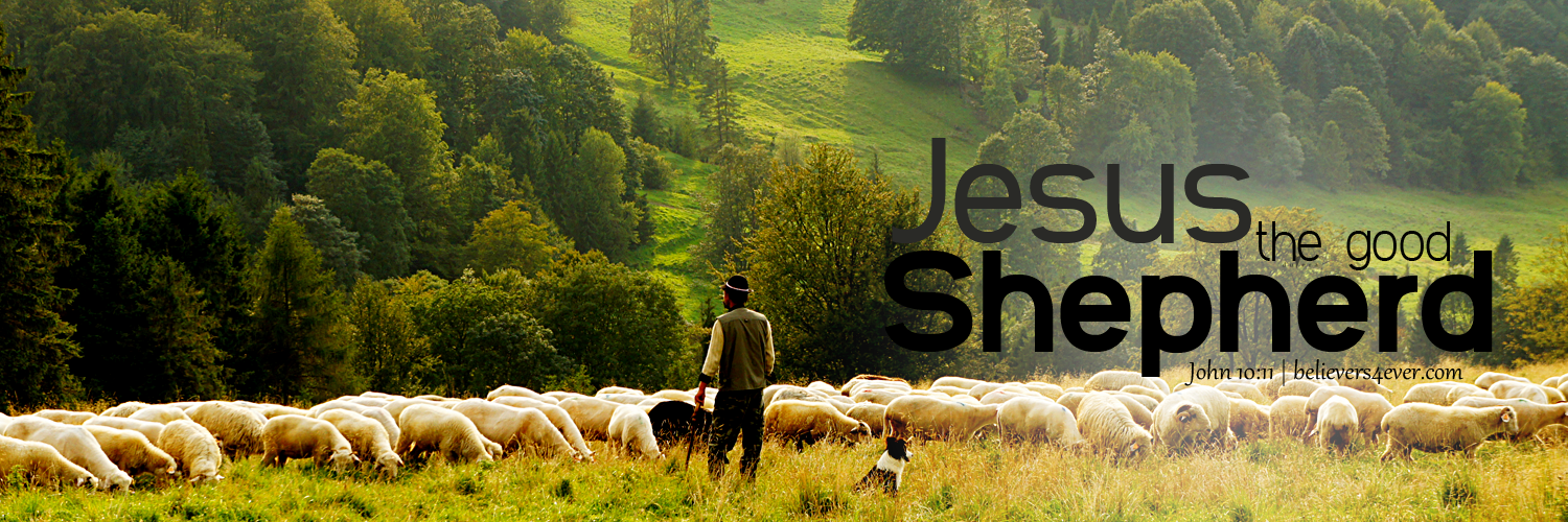 Jesus the good shepherd, Jesus Twitter header, twitter graphics for Christians
