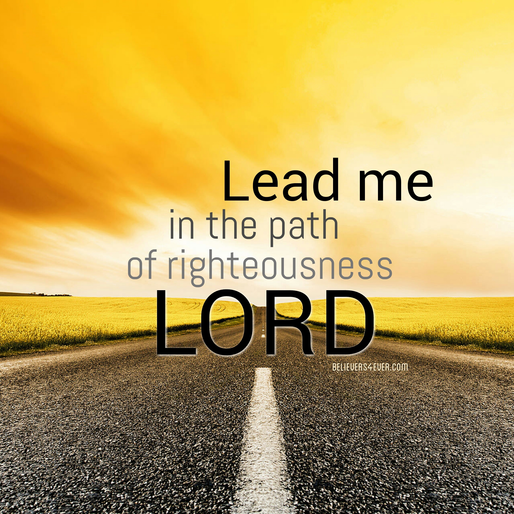Lead me in the path of righteousness Lord