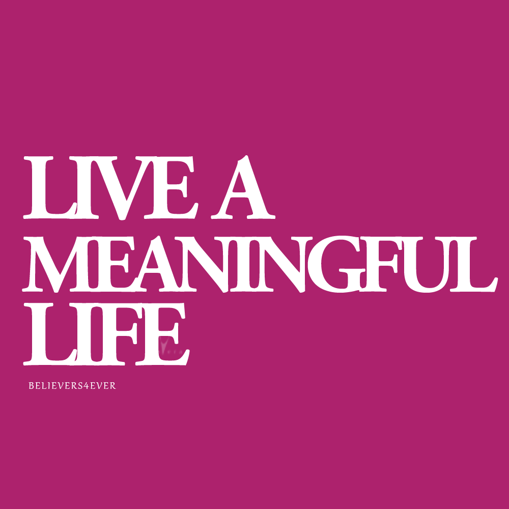 Meaningful Life Quotes Live A Meaningful Life  Believers4Ever