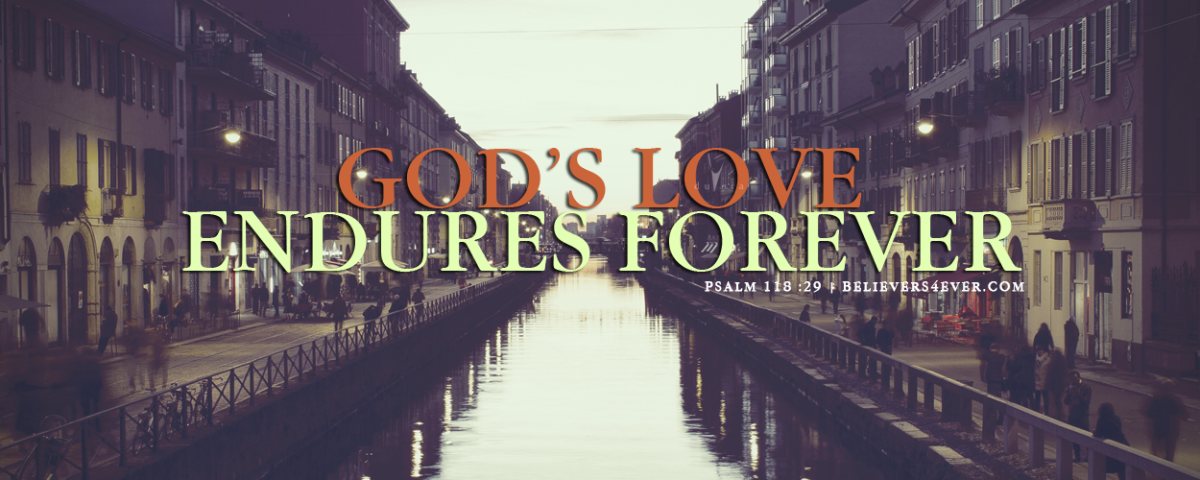 God's love endures forever twitter header