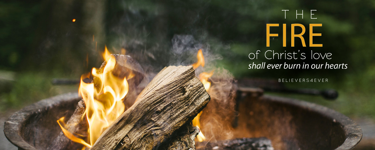 The fire of Christ's love shall ever burn in our hearts. Free Christian desktop HD wallpaper.