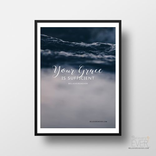 Your grace christian quote art poster print