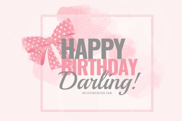 Happy Birthday darling ecard