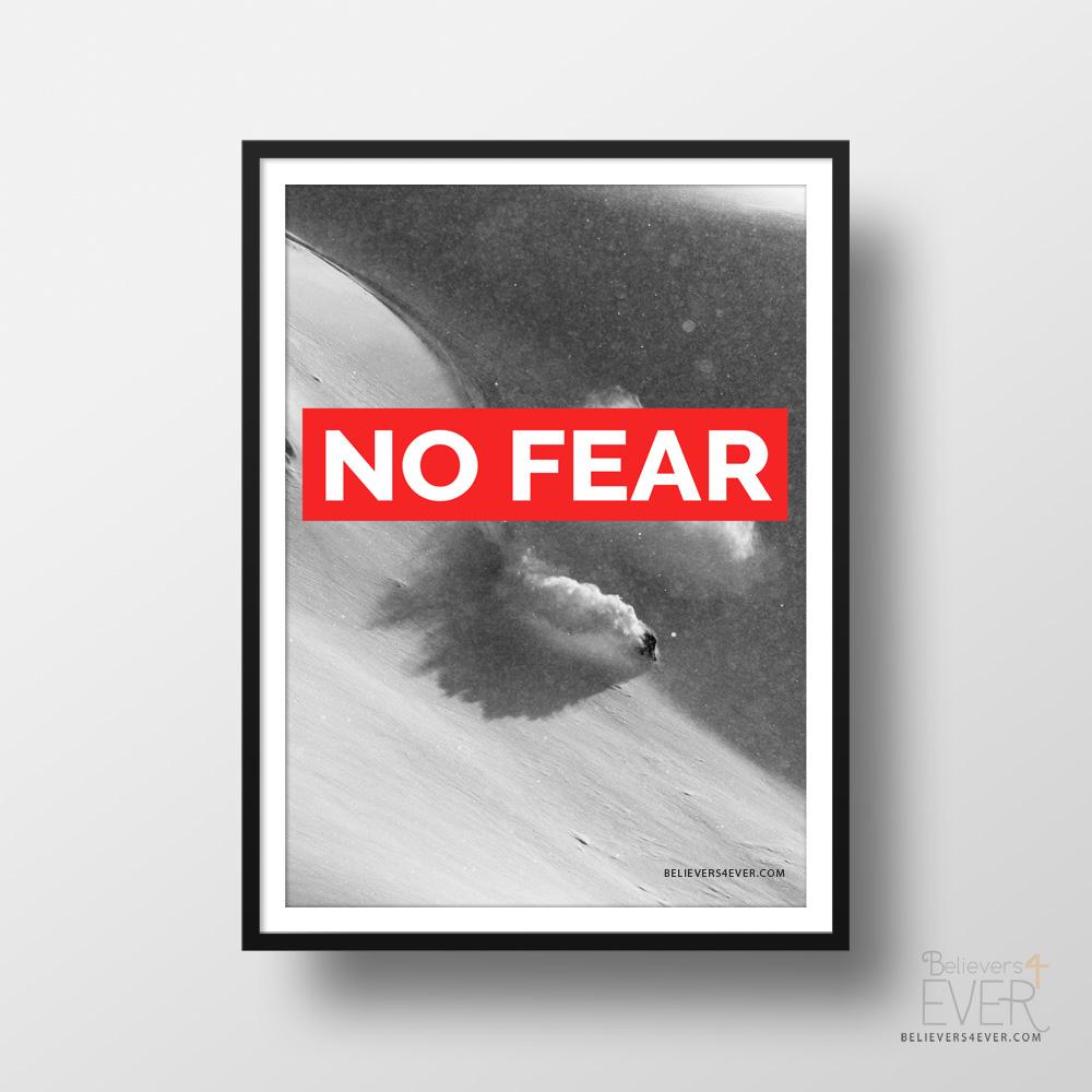 No fear art print poster