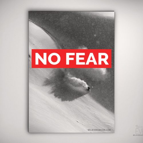 No fear art print poster