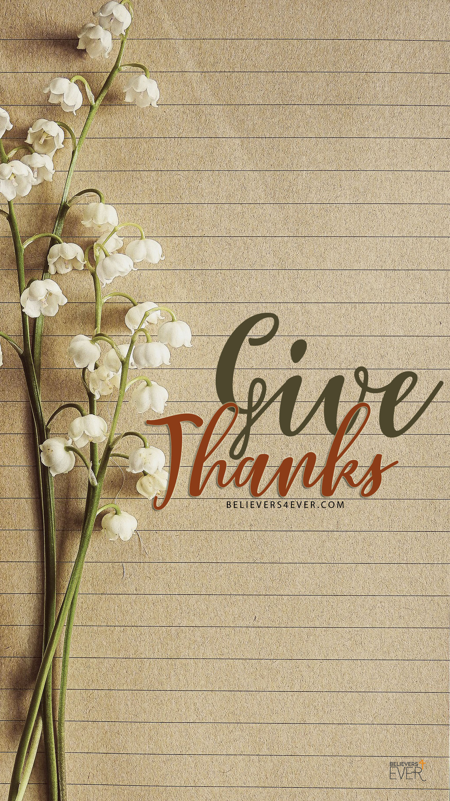 Give thanks mobile wallpaper