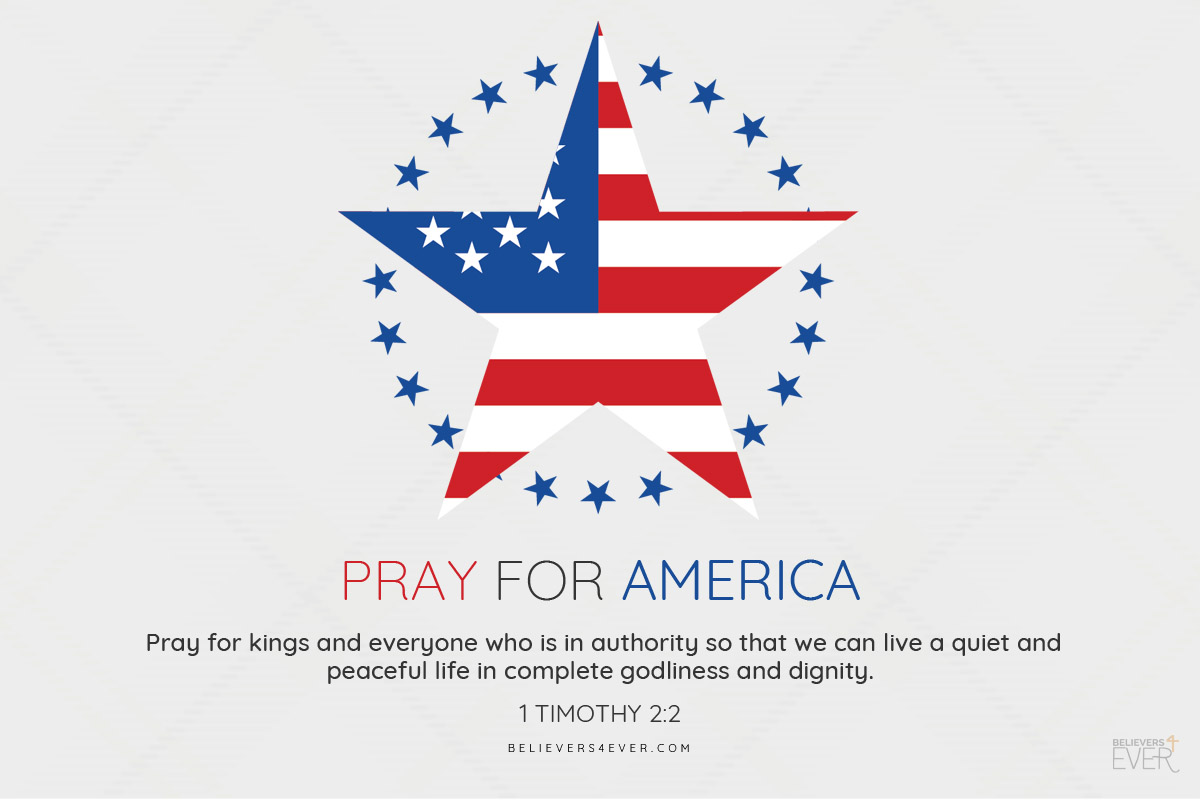 Pray for America Fourth of July greeting card