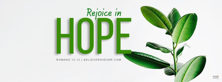 Rejoice in hope Facebook cover