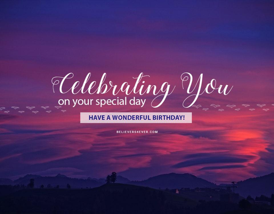 Celebrating you birthday ecard