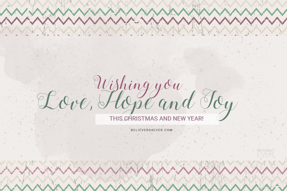 Wishing you love, hope and joy this Christmas and New Year