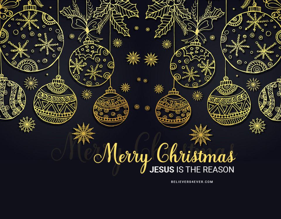 Merry Christmas greeting ecard