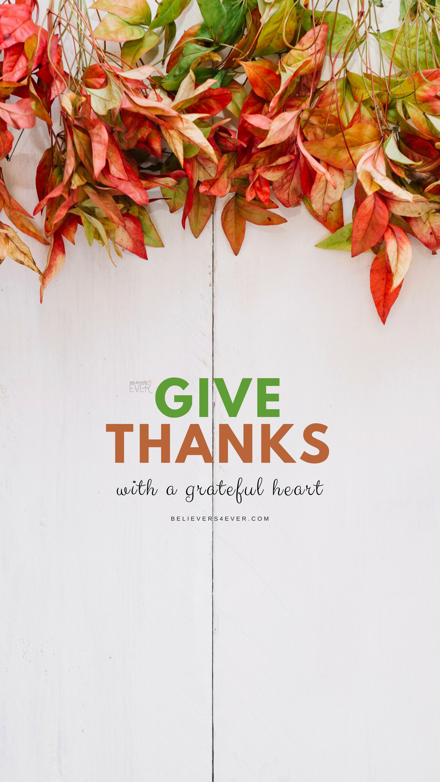 Give thanks Mobile thanksgiving wallpaper