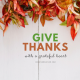 Give thanks twitter header