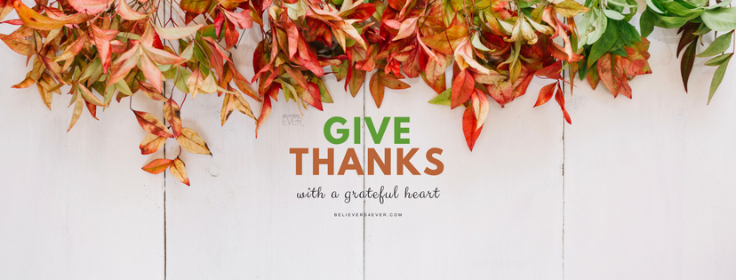 Give thanks with a grateful heart. Free Thanksgiving Facebook cover