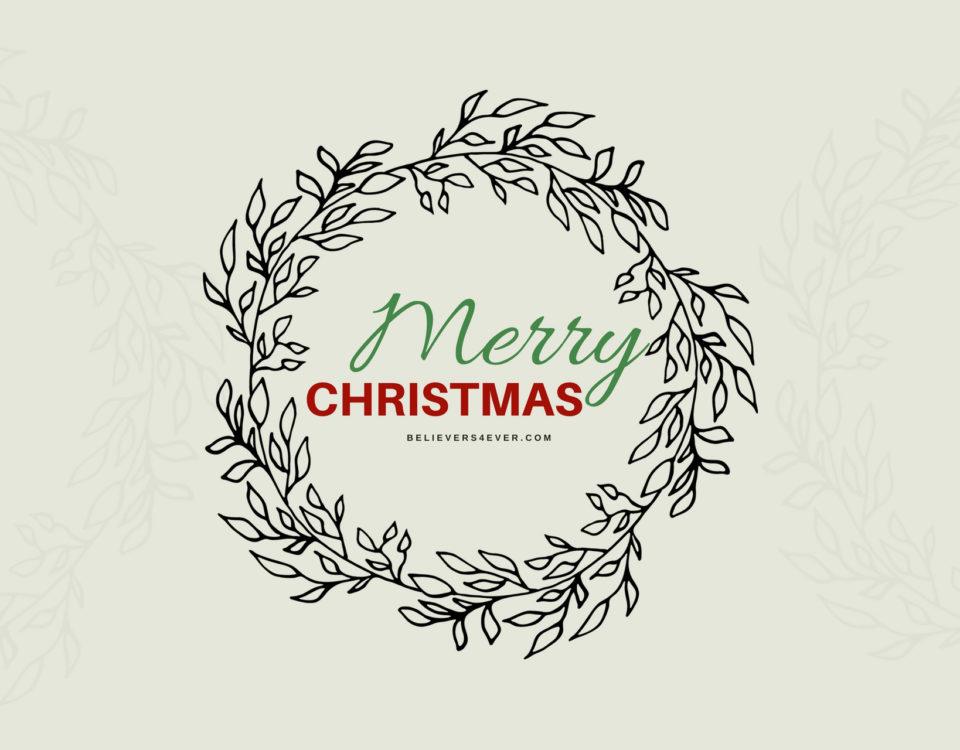 Merry Christmas wreath wallpaper