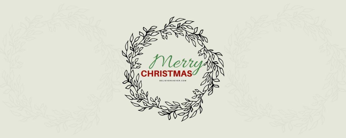 Merry Christmas wreath twitter header