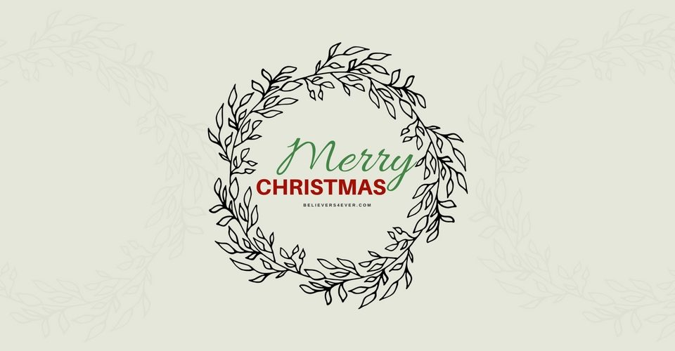 Merry Christmas wreath twitter header
