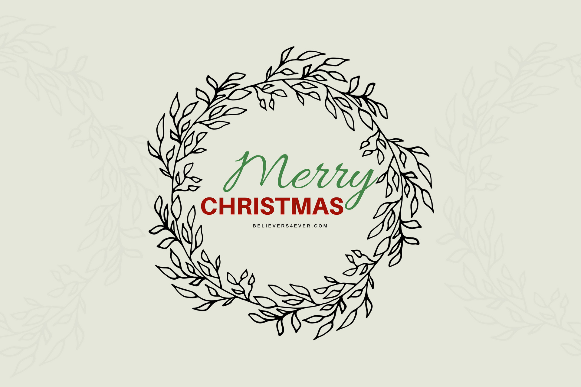 Merry Christmas wreath wallpaper
