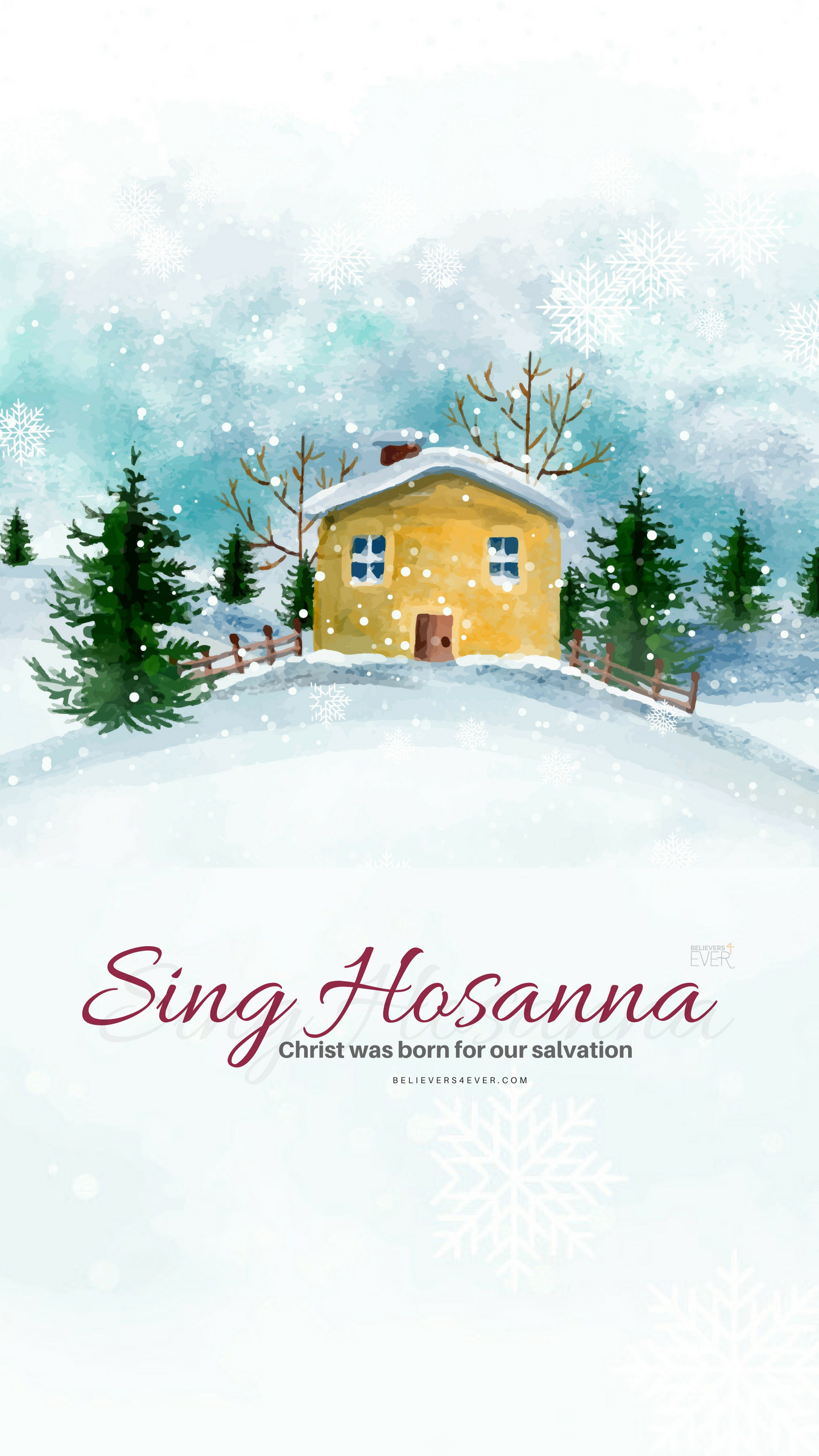 Sing Hosanna Christmas mobile wallpaper