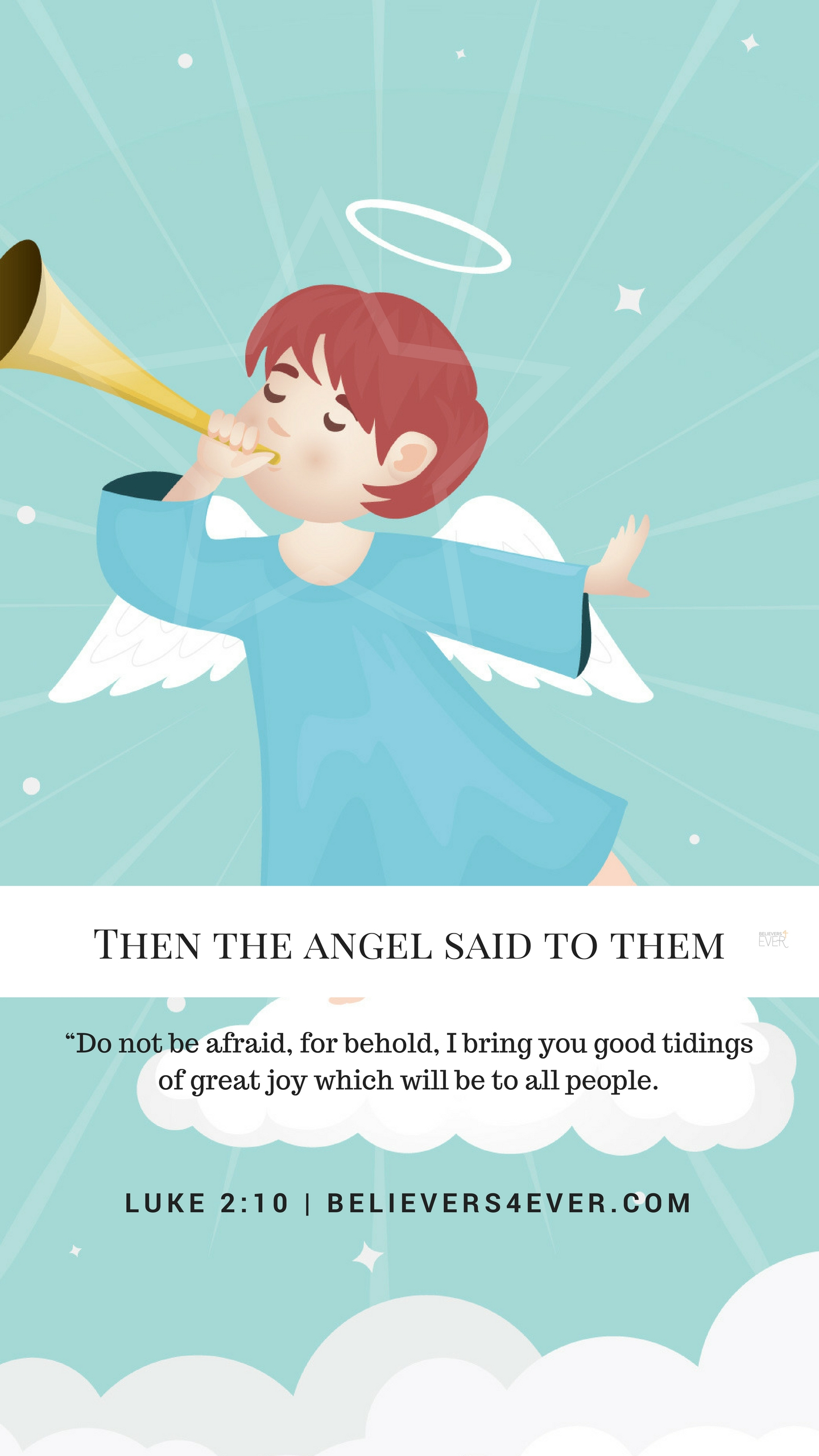 Then the angel said to them mobile wallpaper