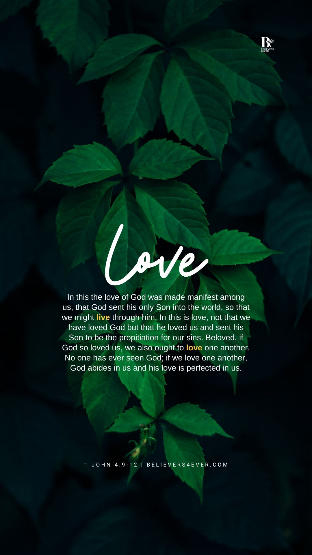 The Love Of God Mobile Wallpaper Believers4ever Com